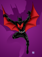 Batman Beyond colour by sean-izaakse