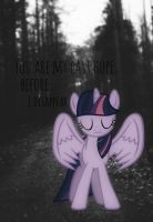 You are my last hope, before I disappear.. by Qewerka