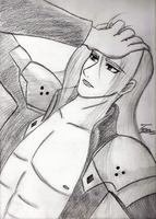 Sephiroth - Pensive by Amalthea16