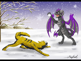 .:Fun at the snow:. by Rorita-Sakura