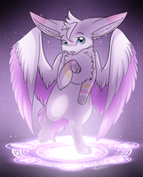 YCH Commission - Purple Magic Circle by Alora-Of-Hearts