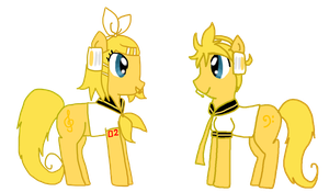 My Little Kagamine Twins by lila79