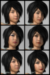 Miki 3 makeup variants by synthymonkey