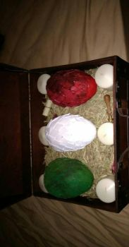 Finished Dragon Eggs  by eegcmnaes