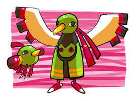 Natu and Xatu Love by burmalloo