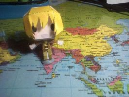 -Ezreal papercraft- Who needs a map? Oh wait... by majesticbananan
