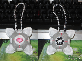 Companion Cube Ornament by dragontrap