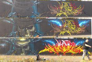 Brave One and Ekto.  No Pity. Evolution graffiti by Brave-one