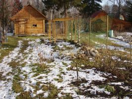 Cottage, Siberia, Russia by Garr1971