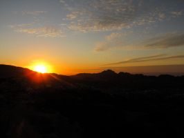 Sunset over Petra by nutzi66