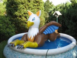 Inflatable gryphon by schorse1000