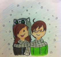 hey look its snowing :3 by fishbowlspace