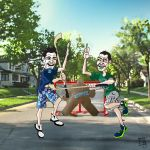 Canucks in the Summer - Detail 5 - Street Hockey by Bleezer