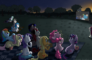 Movie night by Dracodile