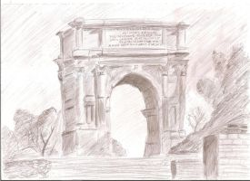 Arch of Titus by Irencia