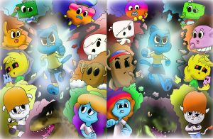 THE AMAZING WORLD OF GUMBALL AND GUMBELLE by WaniRamirez