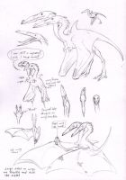 Dragon scribbles -updated- by Paperiapina