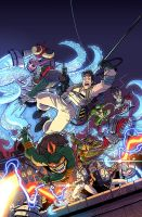 TMNT Ghostbusters cover by E-Mann