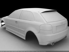 Audi S3 WIP4 Clay by Pisci