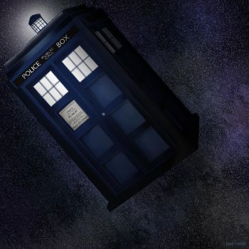 TARDIS in space by bad---w0lf