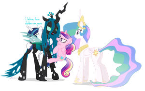 Those Pesky Celestia Kids by dm29