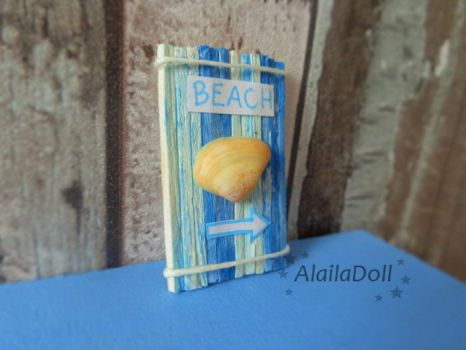 Miniature Dollhouse Seaside Decoration by alaila1