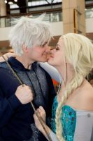 Elsa and Jack Frost Cosplay - Eskimo Kiss by starryeyedq