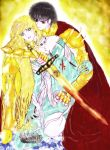The Lady and Her Golden Saint Sir Arthur by 000SkyArrow000