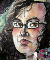 self portrait, large by the-frizz