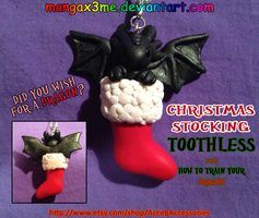 HTTYD Toothless stocking necklace by MangaX3me
