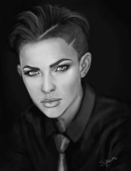 Ruby Rose quickie portrait by SYoshiko