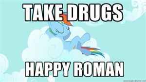 happy roman gives rainbow dash drugs by sonicandmariox