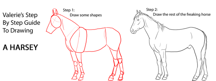 How to Draw a Harsey by LittleHooves