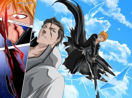 Ichigo vs Aizen by drake---666
