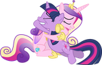 Cadance and Twilight Hugging (Nml Cadance Version) by 90Sigma