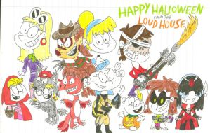 Happy Halloween from the Loud House by SithVampireMaster27