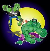 savage dragon v.s hulk by kevtoons