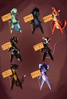 Antrho adoptables 4 OPEN by creative-adoptions