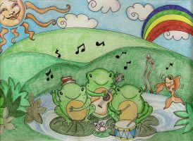 Frog Day Afternoon by Jerzee-Girl