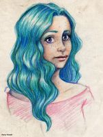 Turquoise hair by MartAiConan