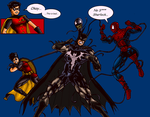 Venomous Bat Starring Batman Robin and Spidey by JuliusC1224