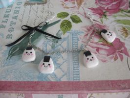 Kawaii Onigiri bracelet by assassin-kitty