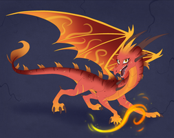Dragon Egg Hatched - Fiery Lava by IcelectricSpyro