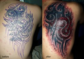 tribal cover up by devilsarm