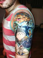 Ghibli inspired Tattoo - DONE! by GalRu