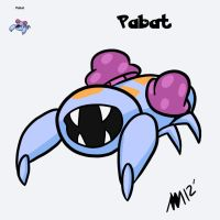 PokeFusion- Pabat by anniemae04