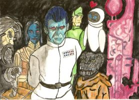 Wall e, EVE and Thrawn by AzureAngel2ihrs