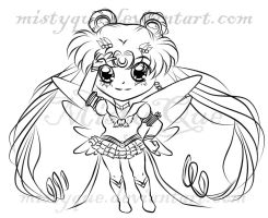 Chibi Eternal Sailor Moon by MistyQue