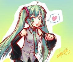 Rough Miku Miku by Coffee-Straw-LuZi