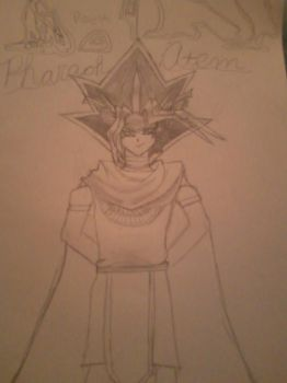 First try at drawing Pharaoh Atem!! I tried :P by MikuCloverClub16